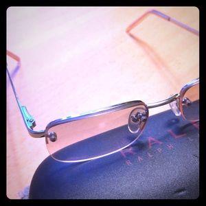RL women's gold half Rim Eyeglass frames
